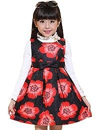 AMYMGLL Primavera y otoño los niños se visten las niñas se visten chaqueta de vestir princesa de la ropa de impresión falda de los niños coloridos , 15905 black , 140