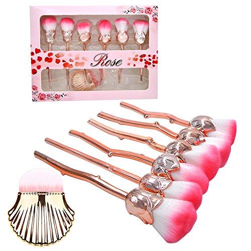 Make-up Pinsel Set, 6 Stück Pro Soft Contour Gesicht Puder Foundation Blush Pinsel Make-up Kosmetik-Tool (Blume Pinsel)