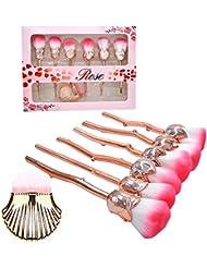 Pinceaux Maquillage Rose Makeup Brushes Maquillage Brosse Ensemble Synthétique Kabuki Fondation Fard à joues Traceur...