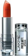 Lakme Enrich Matte Lipstick, Shade OM10, 4.7g