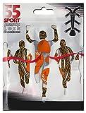 55Sport Schnürsenkel mit elastischem Schnellverschluss, mit Zickzack-Muster, für Laufen und Triathlon, Kinder damen Herren, Orange