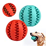GWHOLE Bola Masticar Mascotas Juguete de Goma para perros Jugar Traning ejercicio, Azul + Rojo