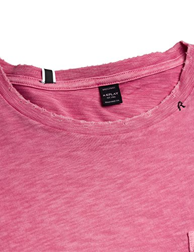 Replay Herren T-Shirt M3237 .000.22336g Rosa (Brick Pink 263)