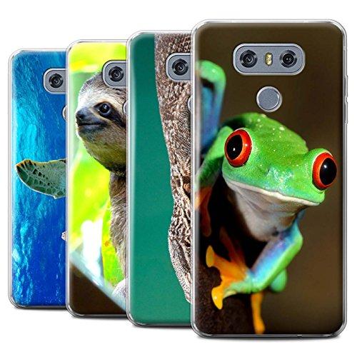 Preisvergleich Produktbild Stuff4 Gel TPU Hülle / Case für LG G6/H870/LS993/VS998 / Multipack Exotisch / Wilde Tiere Kollektion