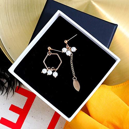 SIWUXIE OrecchiniOrecchini a perno con perle di imitazione di personalità femminile Corea dormono senza orecchini di picking semplici orecchini rossi a rete selvatici, orecchini geometrici