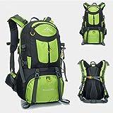 50L Travel Rucksack, ideal für Outdoor Sport, Wandern, Trekking, Camping Reisen, Bergsteigen. Wasserdichte Bergsteigtasche, Reiseklettern Daypacks, Rucksack, Rucksack. (Grün)