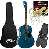 Tiger ACG2-BL Pack de Guitare acoustique - Bleu