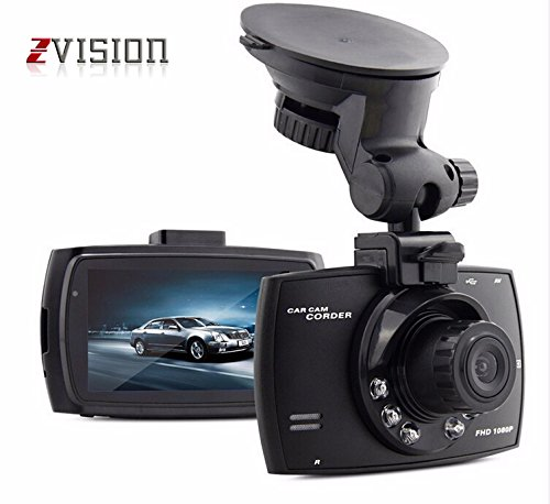 "ZVision Full HD 1080P Car DVR with Memory Card Slot Recording and 2.7"" LCD Screen Night Vision Camcorder"