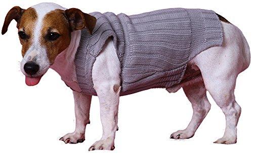 Doggy Dolly W073 Strickpullover für Hunde, grau, Winter, Größe : XXL - 3