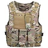 d2c503ad39238 QIMAOO Nylon Atmungsaktive Mesh Taktische Weste Schutzweste für Armee Fans  Outdoor CS Spiel Field Combat Training