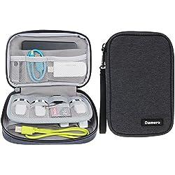 Damero Estuche para Tarjetas USB Cables Accesorios Eléctrica Ordenador para Gadget Bolsillos para Viaje(No Tiene Accesorios) - Negro