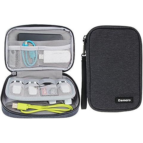 Damero USB Flash Drive Caso empaqueta la cartera, las tarjetas de memoria SD Cable Organizador - caso del recorrido Gadget para los pequeños accesorios Electrónica -