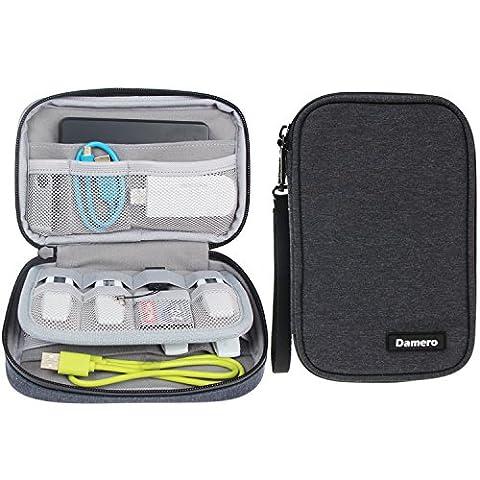 Damero Kleine Tasche für USB-Sticks und Speicherkarten, Aufbewahrungstasche Organiser Tasche für Zubehöre,