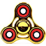 Morningsilkwig Dedo spinnner Spinner Juguetes educativos Finger Spinner Finger tips Hand Spinner Torque (Gold)