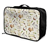 Portable Luggage Duffel Bag Rabbit and Carrot Travel Bags Carry-on In Trolley Handle