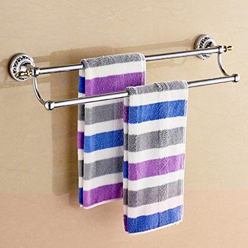 ZRL77y Wand-Handtuchhalter Edelstahl Handtuchhalter Badzubehör-Set Handtuchhalter -Badezimmer assistieren (Size : 50cm)