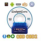 GadgetGuru Super Mini elm327 Bluetooth OBD2 OBD II Scanner ELM 327 Bluetooth Smart