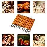 Set di strumenti per intaglio del legno, coltello per intaglio a 12 scalpelli per gomma, zucca, sapone, verdure per scultori fai-da-te Carpenter Principianti ed esperti