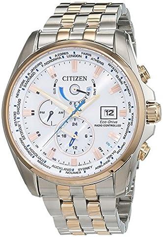 Citizen Herren-Armbanduhr XL Analog Quarz Edelstahl beschichtet AT9034-54A