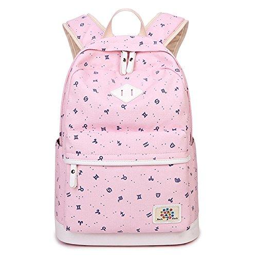 Preisvergleich Produktbild SJMMBB Die neuen Frauen Schultasche Schultasche Frauen bag, Pink, 42 X 30 X 17 CM