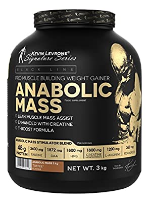 Kevin Levrone 3kg Black Line Anabolic Mass – Muscle Mass – Bulk – Protein by Kevin Levrone Signature Series