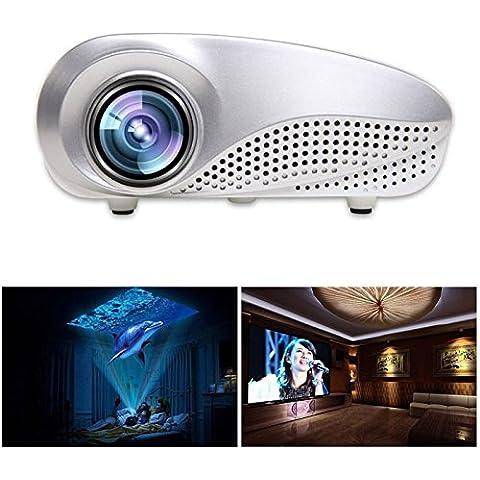 2016 POTOBrand Mini hogar Multimedia cine LED proyector HD 1080p ayuda sistema de pesos americano TV VGA HDMI USB