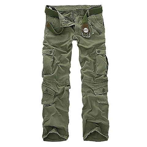 Pantalon Treillis Vintage - Minetom Vintage Cool d'été Homme style militaire