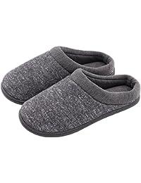 hometop Mujer ¡comodidad Resbalones en Memory Foam Francés Terry Forro Interior verstopfen Zapatillas
