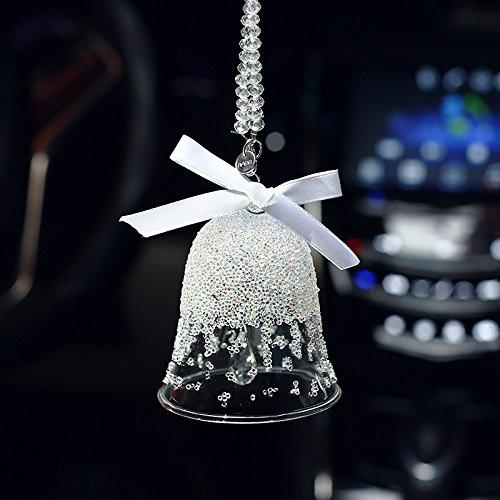 Yebao crystal bell vento bell auto ciondolo natale fiocchi di neve angelo palla di cristallo macchina montata femmina creativo auto e