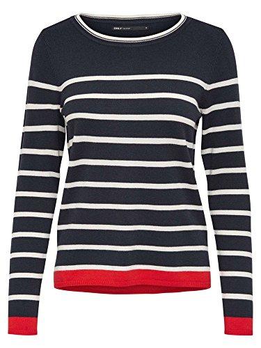 ONLY Onlalice L/s Pullover Knt, Felpa Donna, Multicolore (Night Sky), 36 (Taglia Produttore: Small)