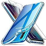 ivencase Samsung Galaxy A50 Hülle + [2 Stück] Panzerglas Bildschirmschutzfolie, Transparent Silikon TPU Soft Premium Case Anti-Kratzer Schock-Absorption Durchsichtig Schutzhülle für Samsung Galaxy A50
