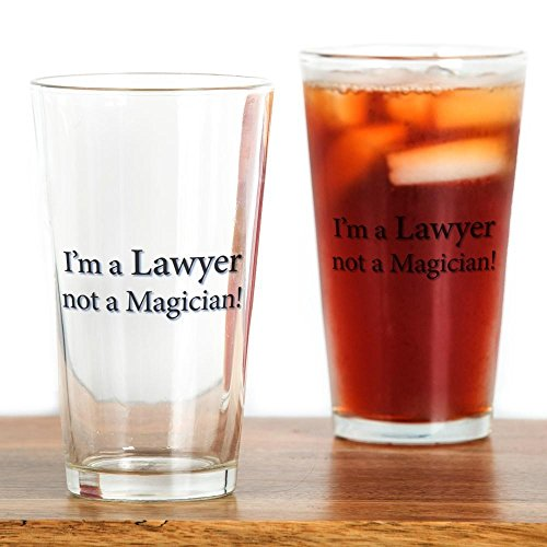 CafePress - Lawyer Drinking Glass - Pint Glass, 16 oz. Drinking Glass by CafePress