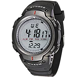 Silvercell Men Waterproof LED Digital Stopwatch Sports Wrist Watches Grey