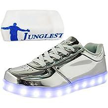 [Presente:peque?a toalla]Negro 35 Hombres colores 7 Zapatos Up Negro manera LED Light 2PemxB