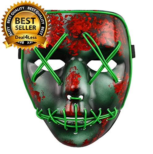 Das Säuberungs-Wahljahr führte Light up Mask Festival Halloween-Kostüm von ()