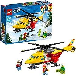 LEGO City - L'hélicoptère-ambulance - 60179 - Jeu de Construction