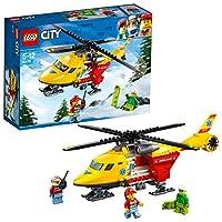 Trasporta lo snowboarder in ospedale!Unisciti alla squadra di soccorso LEGO® City e pilota l'Eli-ambulanza! Questo divertente giocattolo è dotato di rotori funzionanti, portello posteriore, carrello di atterraggio e spazio per una barella all'interno...
