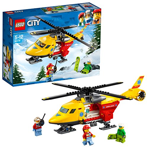 LEGO City Great Vehicles Helicóptero ambulancia, única (60179)