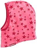 Playshoes Kinder Helmmütze aus Fleece Sterne softe und atmungsaktive Schlupfmütze, pink, one size