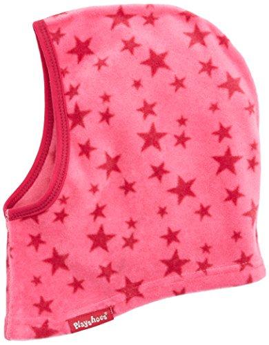 Playshoes Mädchen Mütze Warme Kinder Fleece-Schlupfmütze Sterne, Rosa (Pink 18), One Size