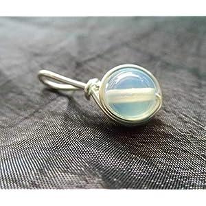 Filigraner Kettenanhänger - Opalit - versilbert