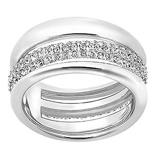 Swarovski Damen-Ring Exact Silber rhodiniert Kristall weiß Gr. 52 (16.6) - 5221563