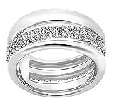 Swarovski Damen-Ring Exact silber rhodiniert Kristall weiß Gr. 58 (18.5) - 5221571