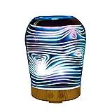 Izzya 3D 100 Ml Ätherisches Öl Duftlampe Glasabdeckung Nachtlicht Sieben Farben Ultraschall Kühler Nebelbefeuchter Automatische Abschaltung