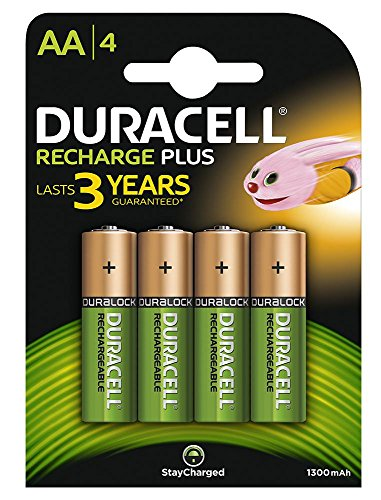 [Import Anglais]Duracell HR6-B AA 1300mAh Rechargeable 4 Pack