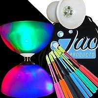 Big Top LED - Light Up Bearing Diabolo Set with Fibreglass Handsticks and Jac Products Bag