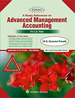 Padhuka's A Ready Referencer on Advanced Management Accounting by [CA Prasath B Saravana]