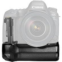 Neewer Pro Poignée d'Alimentation de Remplacement de Canon BG-E21 pour Canon 6D Mark II DSLR, Compatible avec 1 ou 2 Li-ion Batterie Rechargeable LP-E6 (Batterie NON Incluse)