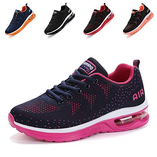 Scarpe da Ginnastica Uomo Donna Sportive Sneakers Running Basse Basket Sport Outdoor Fitness-BluePink36