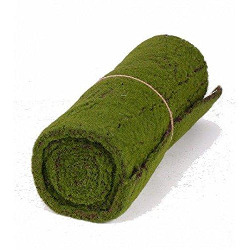Tappeto di muschio floccato artificiale, verde-marrone, 205x50cm - Tappeto sintetico / Muschio decorativo - artplants